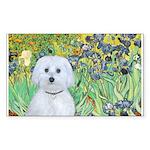 Irises / Maltaese (B) Sticker (Rectangle 10 pk)