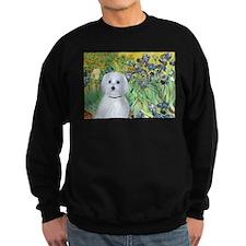 Irises / Maltaese (B) Sweatshirt