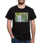 Irises / Maltaese (B) Dark T-Shirt