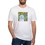 Irises / Maltaese (B) Fitted T-Shirt