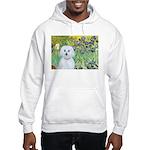 Irises / Maltaese (B) Hooded Sweatshirt