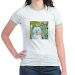 Irises / Maltaese (B) Jr. Ringer T-Shirt