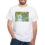 Irises / Maltaese (B) White T-Shirt