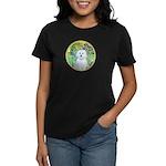 Irises / Maltaese (B) Women's Dark T-Shirt
