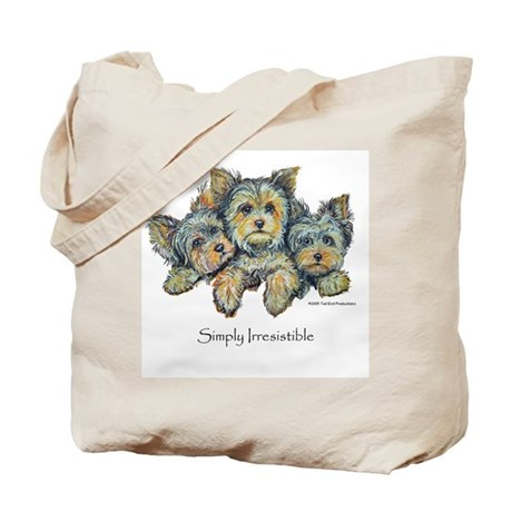 Yorkshire Terrier Puppies Tote Bag