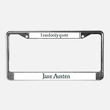 Jane Austen Random Quote #1 License Plate Frame