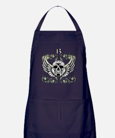 13 Hour Skull Clock Apron (dark)