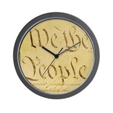 We The People I Wall Clock
