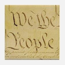 We The People I Tile Coaster