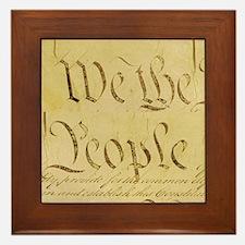 We The People I Framed Tile
