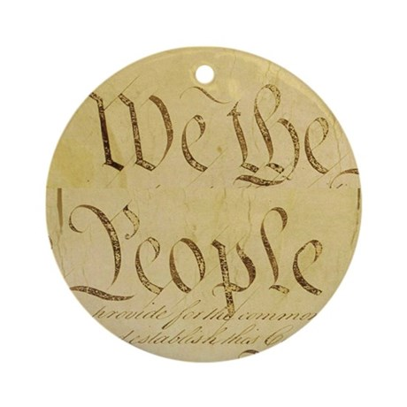 We The People I Ornament (Round)