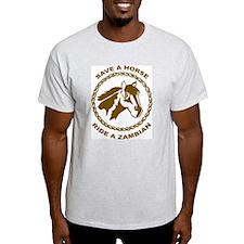 Ride A Zambian Ash Grey T-Shirt