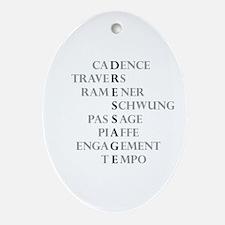 dressage language Oval Ornament