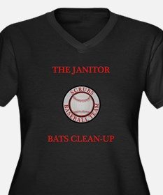 The Janitor Bats Clean-Up Women's Plus Size V-Neck