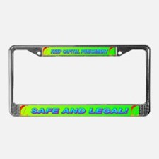 KEEP CAPITAL PUNISHMENT License Plate Frame