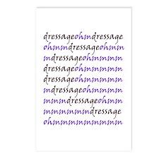 dressage ohm (purple) Postcards (Package of 8)