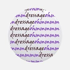 dressage ohm (purple) Ornament (Round)