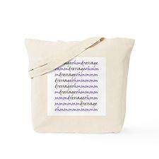 dressage ohm (purple) Tote Bag