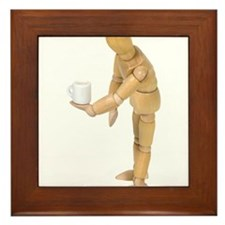 Morning coffee Framed Tile