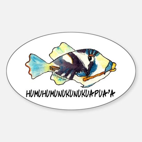 Humuhumu Fish Sticker (Oval)
