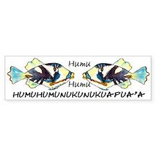Humuhumu Fish Bumper Sticker