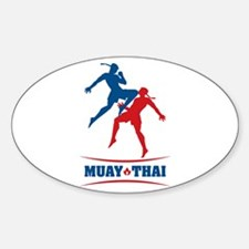 Muay Thai Sticker (Oval)