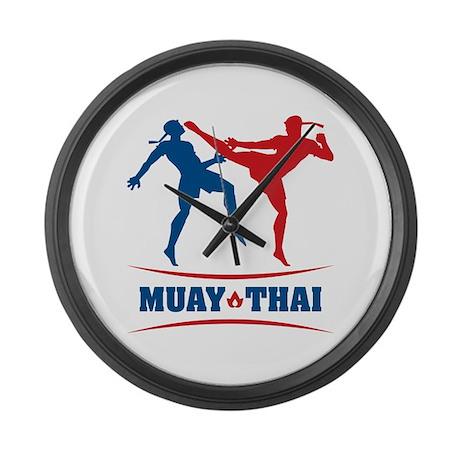 Muay Thai Large Wall Clock