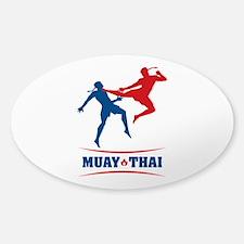 Muay Thai Sticker (Oval)