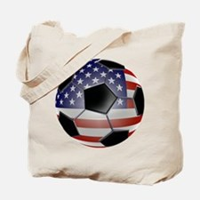 US Flag Soccer Ball Tote Bag