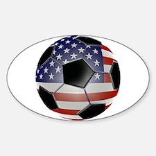 US Flag Soccer Ball Eye Bumper Decal