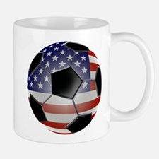 US Flag Soccer Ball Mug