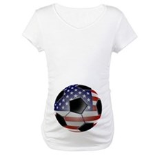 US Flag Soccer Ball Shirt