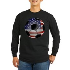 US Flag Soccer Ball T