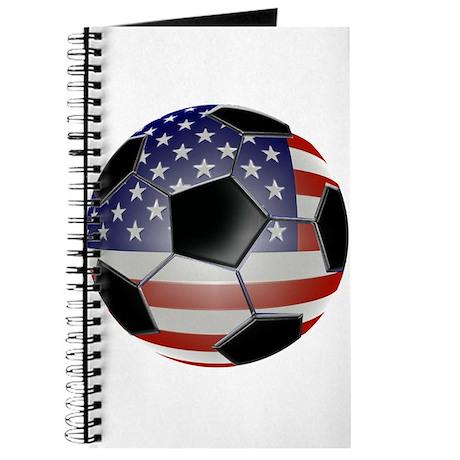 US Flag Soccer Ball Journal