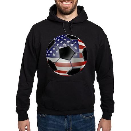 US Flag Soccer Ball Hoodie (dark)