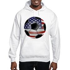 US Flag Soccer Ball Hoodie