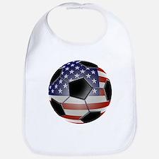 US Flag Soccer Ball Bib