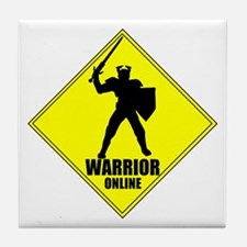 Warrior Online MMORPG Tile Coaster