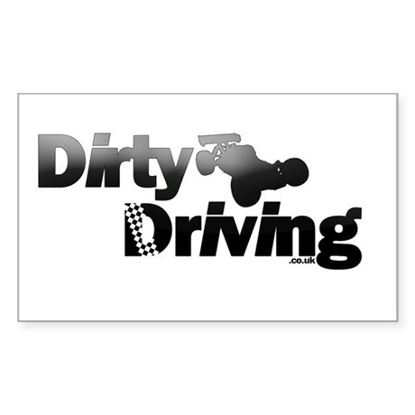 Dirty Driving Sticker (Rectangle)