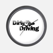 Dirty Driving Wall Clock