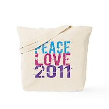peace love 2011 Tote Bag