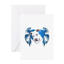 Bully Tribal Heart Wings Greeting Card