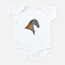 i love dressage grey Infant Creeper