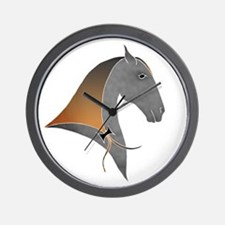 i love dressage grey Wall Clock