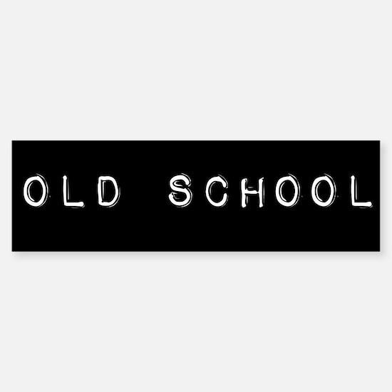 Old School Sticker (Bumper)