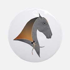i love dressage grey Ornament (Round)