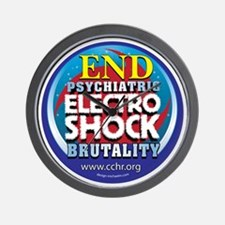 End Electro-Shock Brutality Wall Clock
