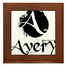 Avery Grunge Framed Tile