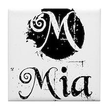 Mia Grunge Tile Coaster
