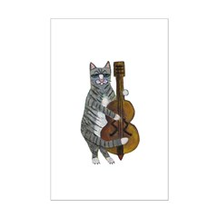 Cat and Cello Posters